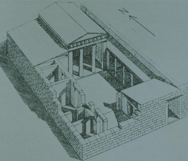 Энергоэффективный дом в Древней Греции строился вокруг открытого на юг двора