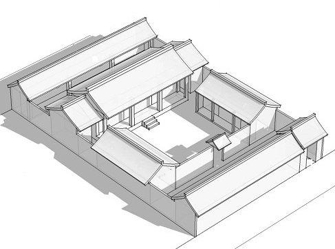Энергоэффективный дом в Древнем Китае. Традиционный китайский дом siheyuan