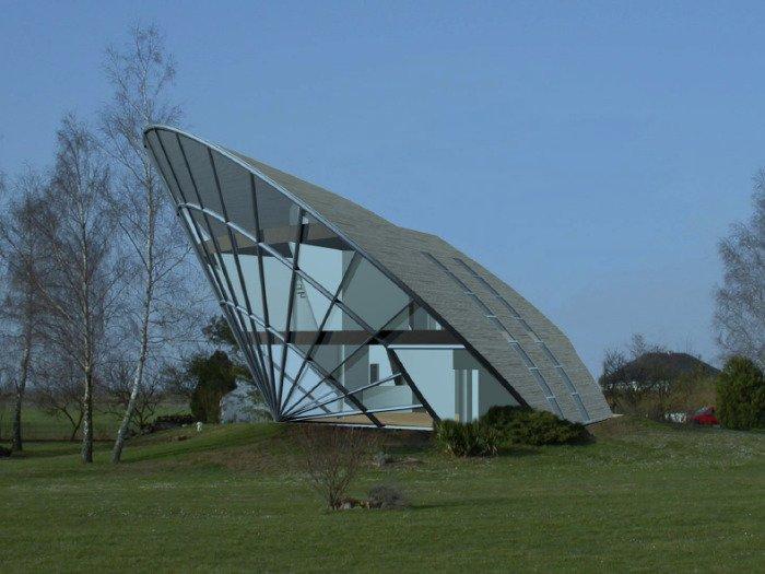 Солнечный пассивный дом Heliodome