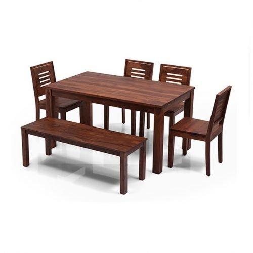 Обеденный стол Arabia с 4-мя стульями и скамейкой