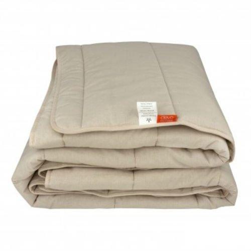 Стеганое зимнее одеяло из конопли