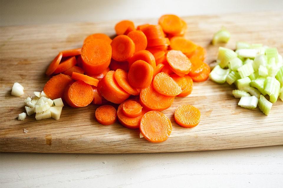 Овощи для супа киноа