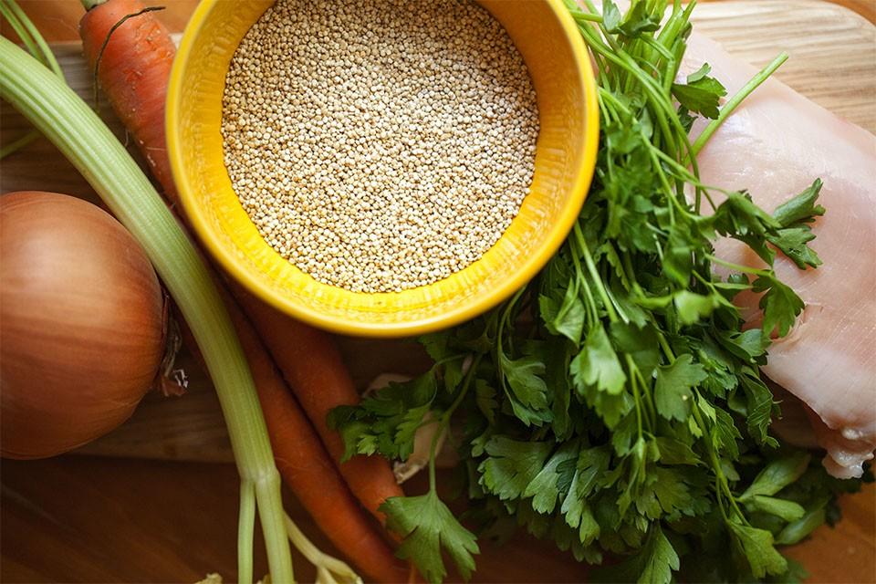 Ингредиенты для супа киноа