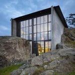Загородный дом Пьер, бетонные стены и стекло