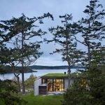 Загородный дом Пьер, зеленая крыша