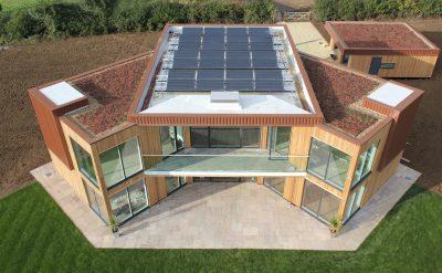 Солнечный дом в Лестершире, вид сверху