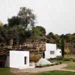 Современный дом в пещере, екстерьер