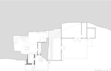 Современный дом в пещере, план