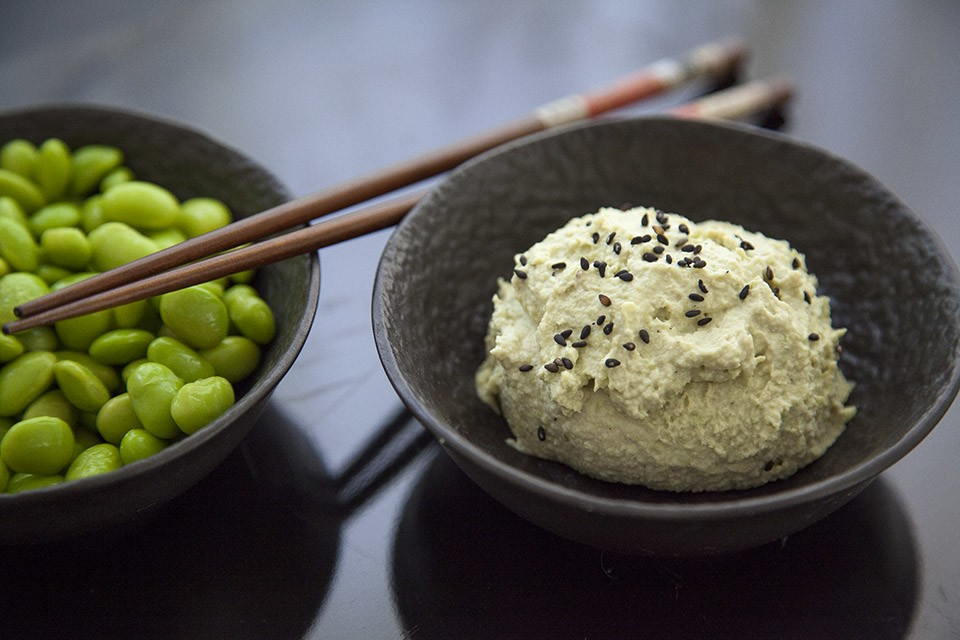 Хумус из нута и эдамаме - рецепт быстрого приготовления