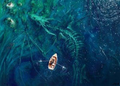 Серендипность, кости дракона под водой