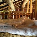Альпийский подземный дом - вилла Вальс, постель на сене