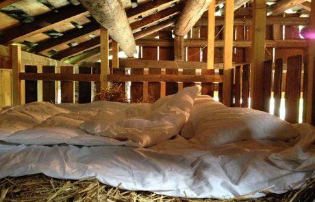Вилла Вальс, постель на сене в амбаре