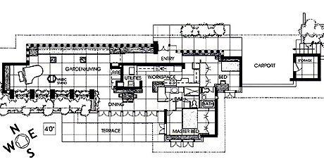 Дом Циммермана, план