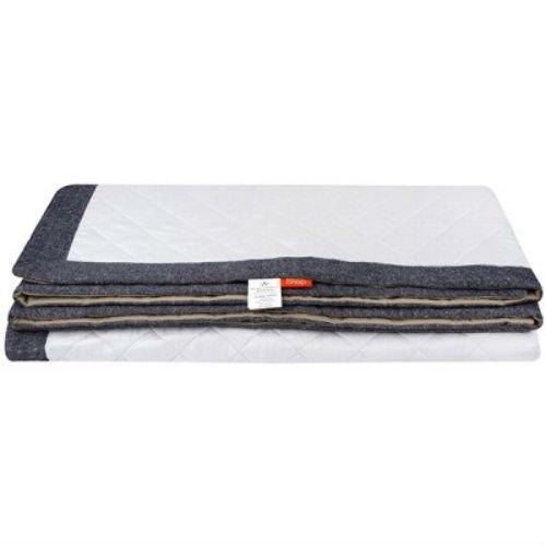 Стеганое одеяло-покрывало из конопли с джинсом