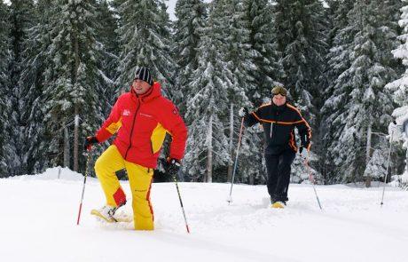 Прогулка на снегоступах на горе Рогла