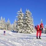 Катание на беговых лыжах на горе Рогла