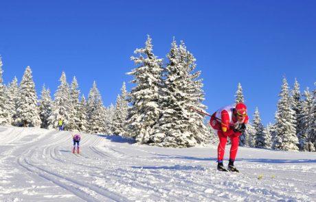 Активный отдых в Словении, катание на беговых лыжах, горнолыжный курорт Рогла, Словения