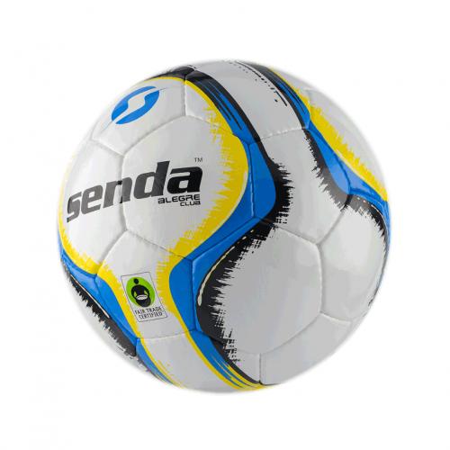 Футбольный мяч Senda Alegre, голубой / желтый