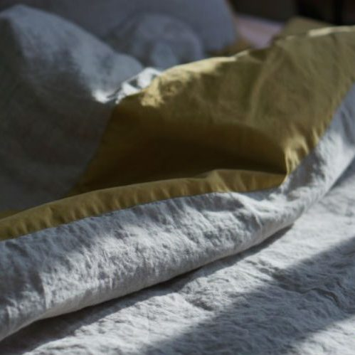 Постельный комплект из стираного льна Washed Linen Olive