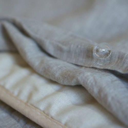 Постель из стираного льна Washed Linen Gray