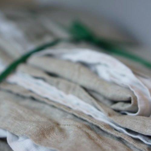 Постель из стираного льна Washed Linen WhiteGray