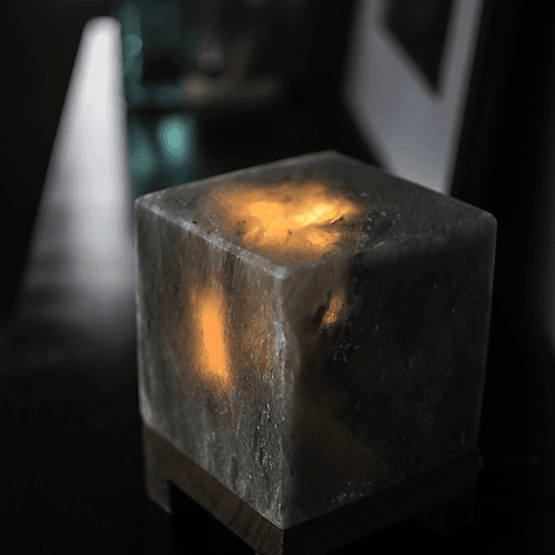 Соляная лампа SO Well Crystal Cube, Grey
