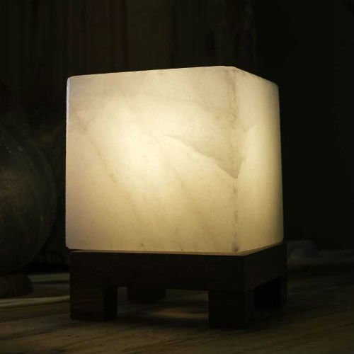 Соляная лампа SO Well-Crystal-Cube-White-Salt-Lamp