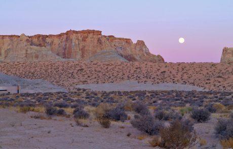 Курорт Amangiri, пустыня и луна