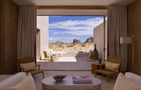 Курорт Amangiri, вид на пустыню со спальни