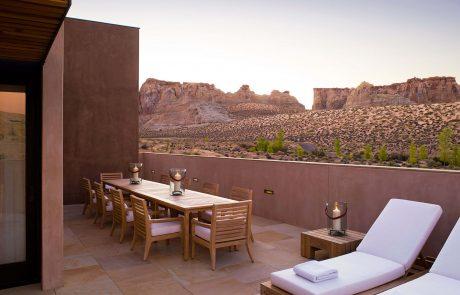 Курорт Amangiri, терраса на приватной вилле с видом на пустыню