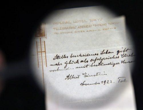 Записка Эйнштейна с теорией счастья продана за $1560000