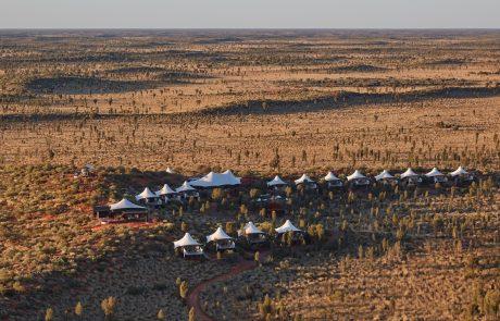 Отдых в Австралии, лагерь Longitude 131°, вид сверху
