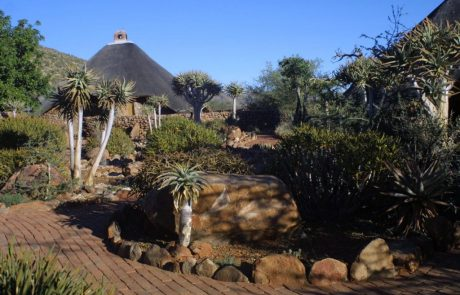 Tswalu Kalahari, сад в лагере Motse