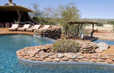 Tswalu Kalahari, бассейн в лагере Motse