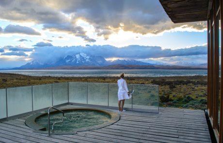 Отель Tierra Patagonia, джакузи на открытом воздухе