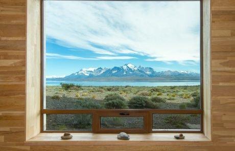 Вид из номера в отеле Tierra Patagonia