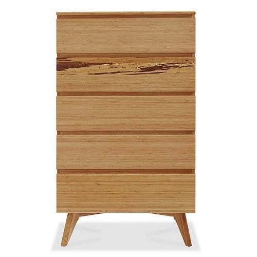 Высокий комод из бамбука Azara, карамельный цвет