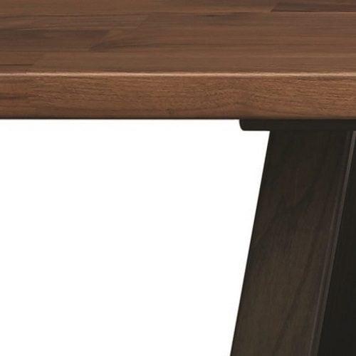 Фермерский обеденный стол из черного ореха и ясеня