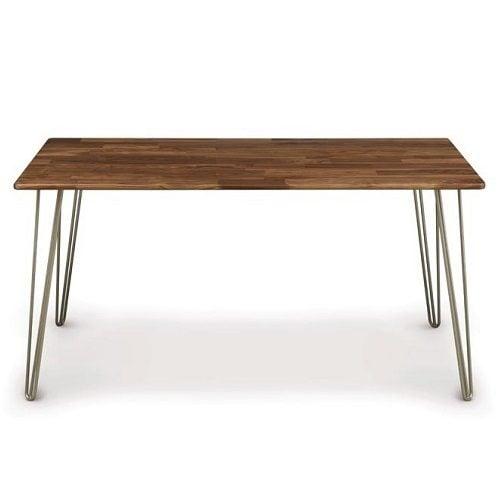 Современный обеденный стол с металлическими ногами