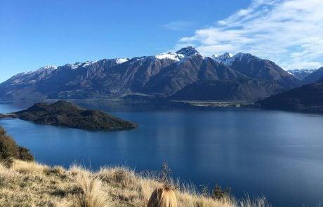 Отдых в Новой Зеландии, вид на озеро Вакатипу