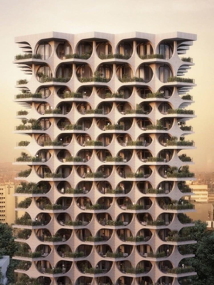 Современная архитектура: Аркады Тель-Авива, экстерьер