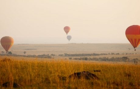 Сафари в Африке, полет на воздушном шаре