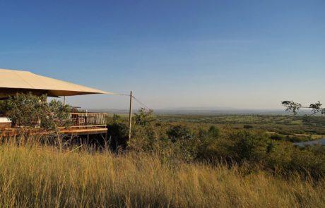 Лагерь Mara Bushtops, смотровая площадка в палатке