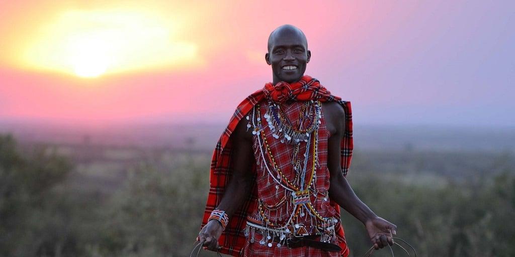 Сафари в Африке, Масаи Мара, воин масаи