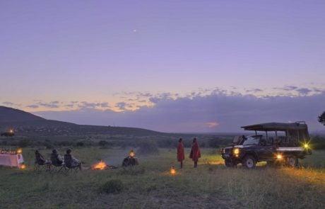 Сафари в Африке, ужин в саванне