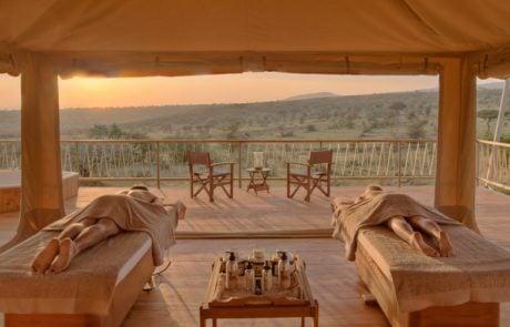 Лагерь Mara Bushtops, африканское спа