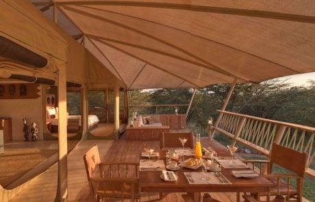 Лагерь Mara Bushtops, семейная палатка