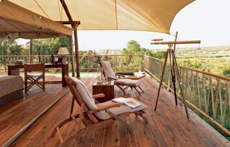 Лагерь Mara Bushtops, телескоп в палатке