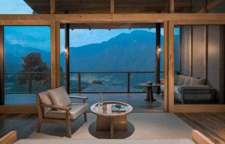 Лоджа Six Senses Punakha, вид с балкона
