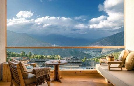 Лоджа Six Senses Thimphu, вид с балкона